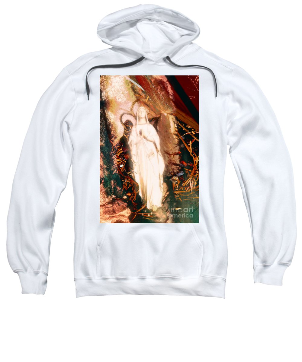 Our Lady Of Lourdes Sweatshirt featuring the photograph Our Lady Of Lourdes by Davy Cheng