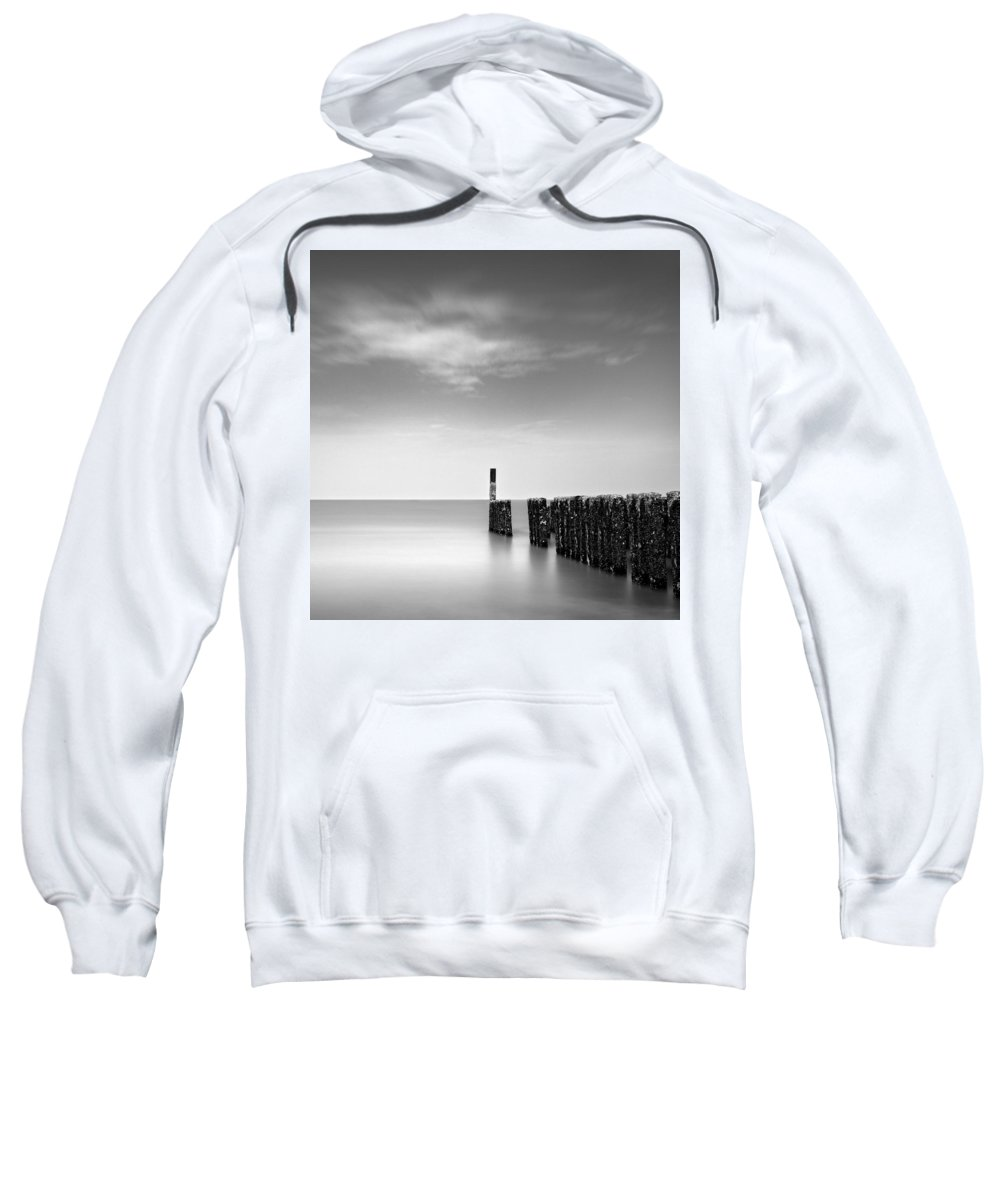 Groynes Sweatshirt featuring the photograph Out To Sea by Dave Bowman