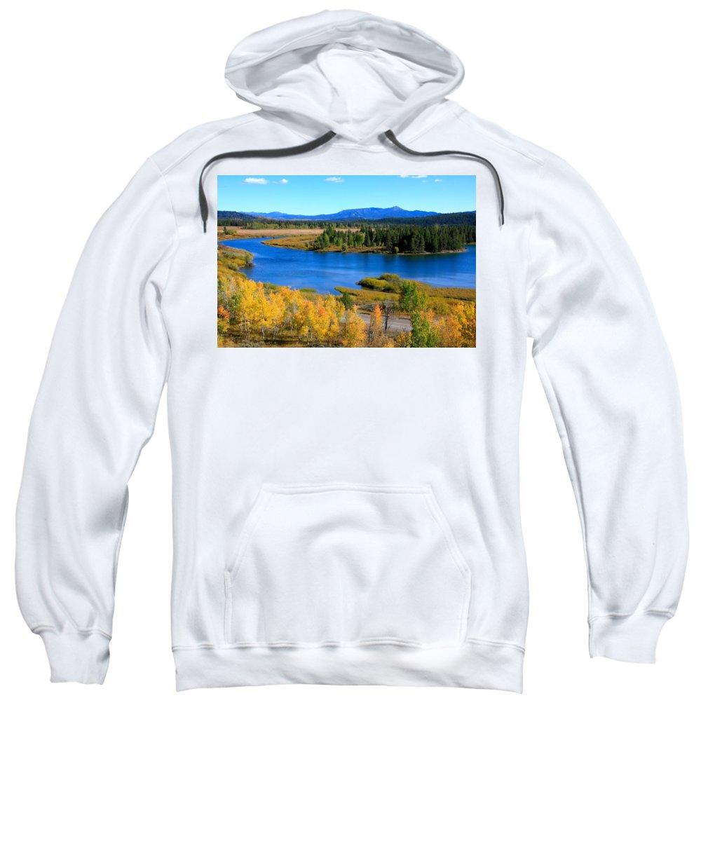 Grand Tetons Sweatshirt featuring the photograph Oxbow Bend, Grand Teton National Park by Aidan Moran