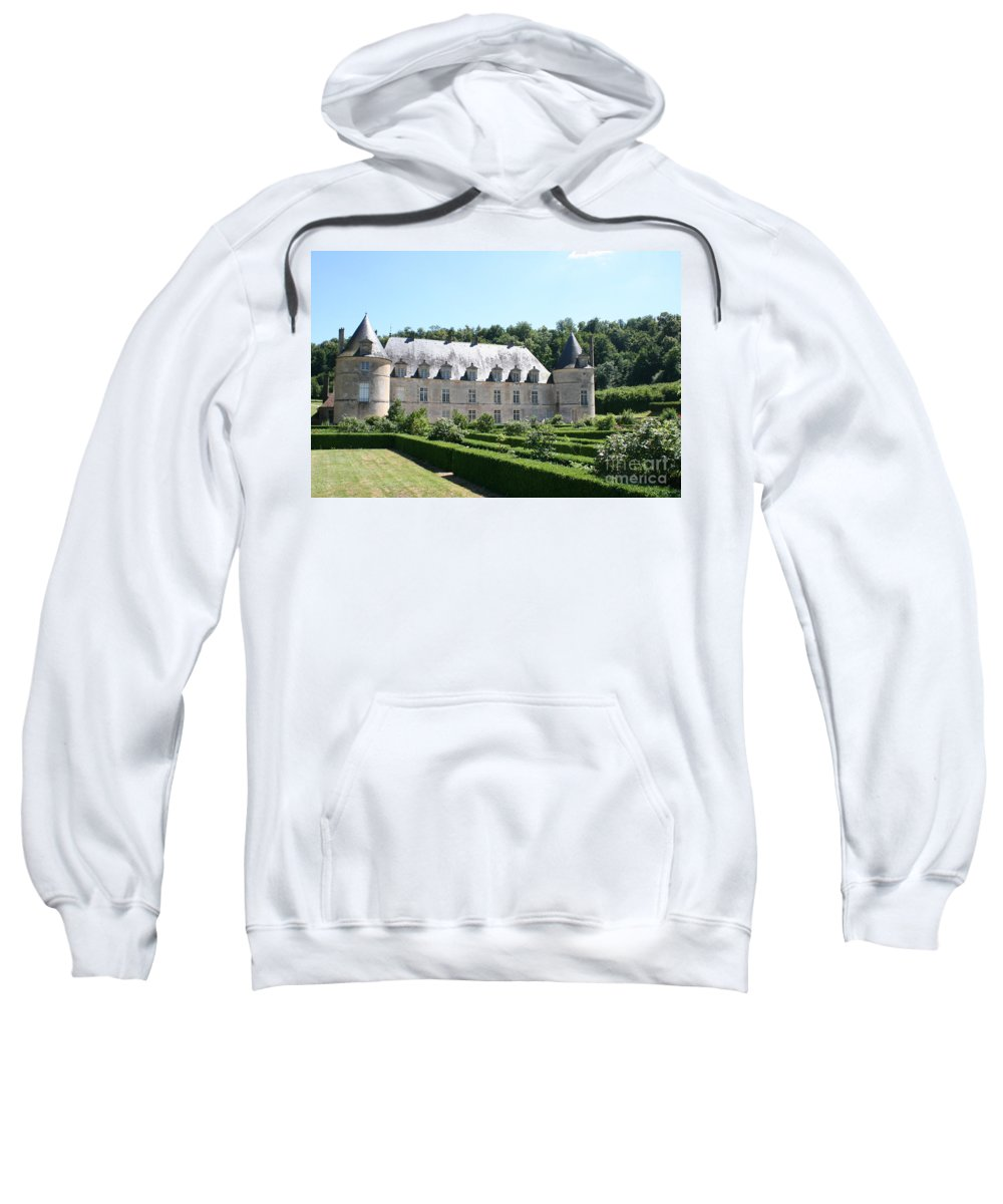 Palace Sweatshirt featuring the photograph Palace And Garden Bussy Rabutin - Burgundy by Christiane Schulze Art And Photography