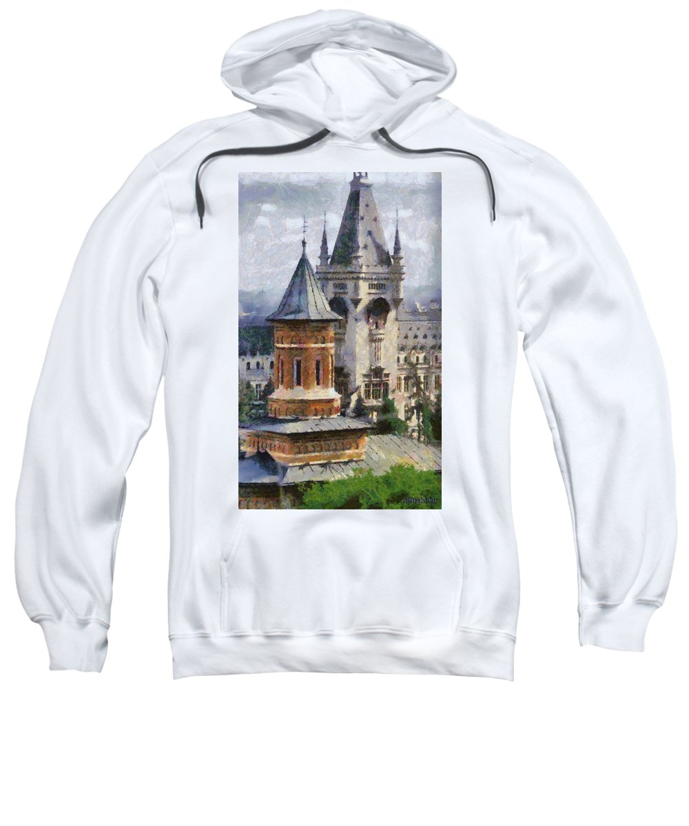 Chapel Sweatshirt featuring the painting Palace Of Culture by Jeffrey Kolker