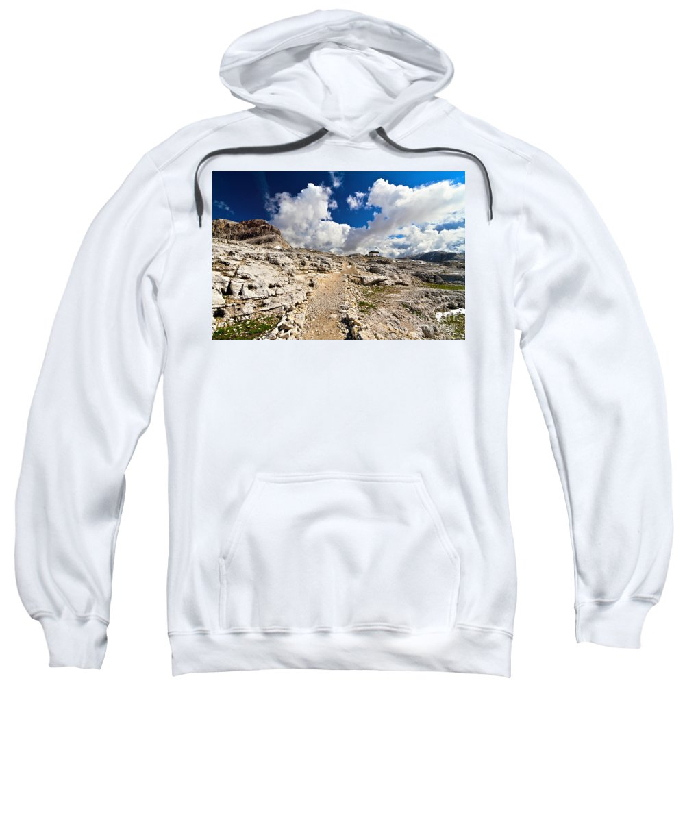 Alpine Sweatshirt featuring the photograph Pale Di San Martino Plateau by Antonio Scarpi