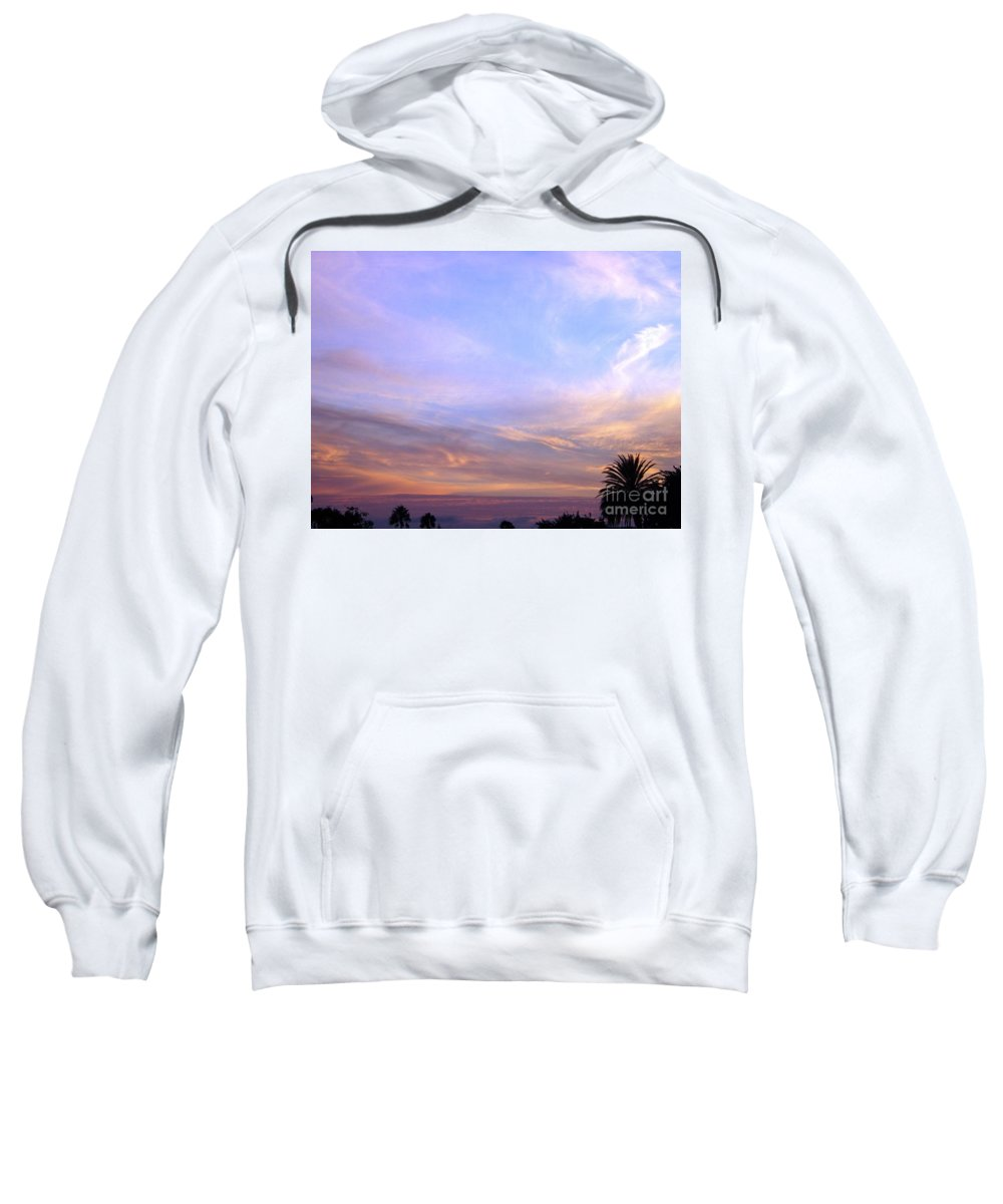 Sunset Sweatshirt featuring the photograph Palms In Shadow Of Sunset by Jussta Jussta