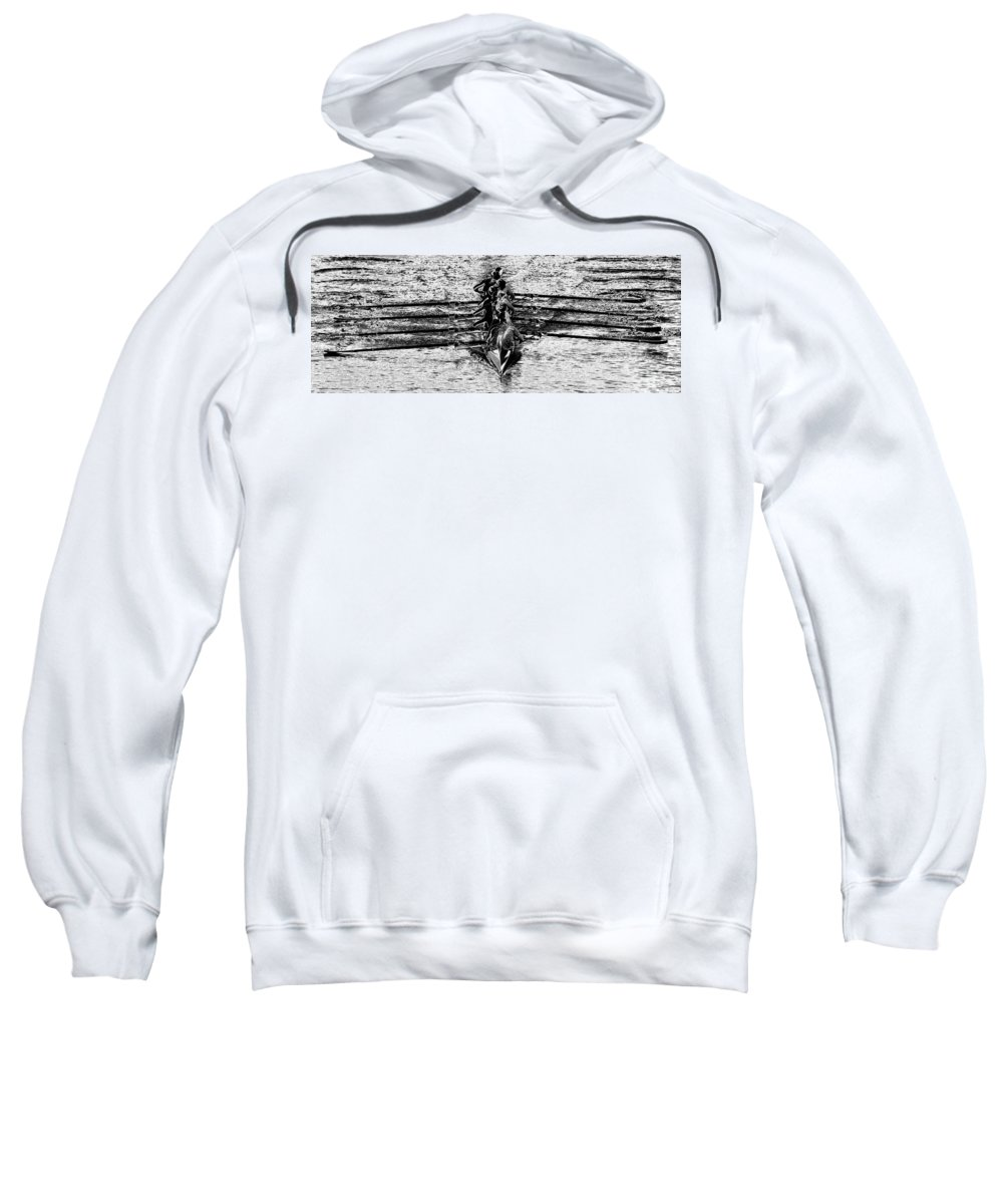 Panoramic Photography Sweatshirt featuring the photograph Panoramic Rowing by David Lee Thompson