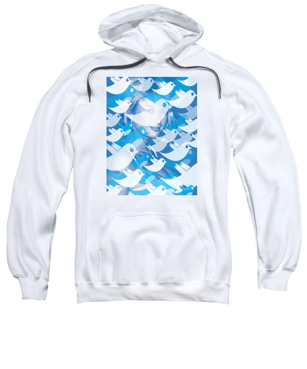 Paris Hilton Sweatshirt featuring the painting Paris Hilton Twitter by Tony Rubino
