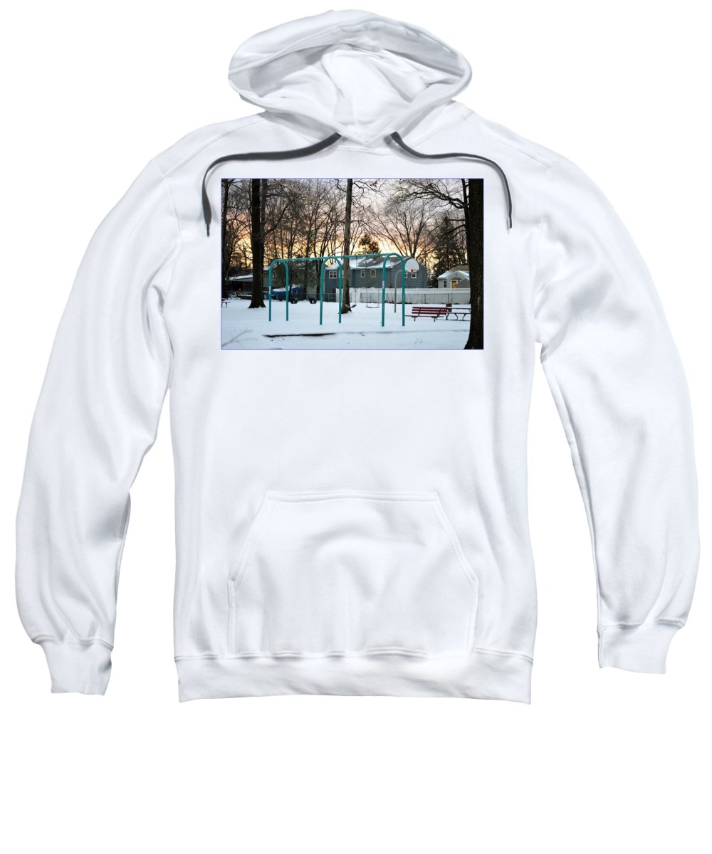 Greetings Sweatshirt featuring the photograph Park In Winter by Sonali Gangane