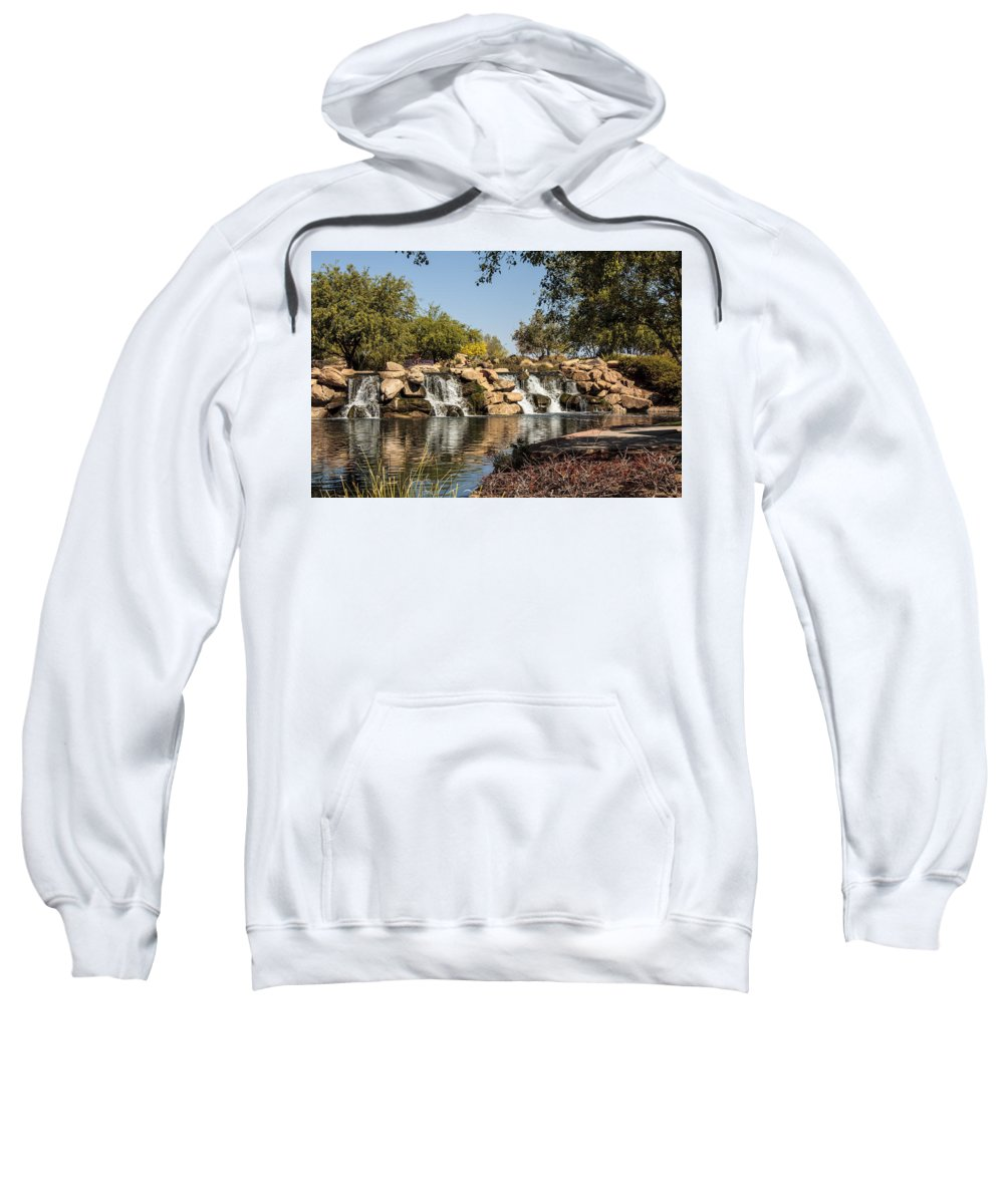 Fred Larson Sweatshirt featuring the photograph Park Reflections by Fred Larson
