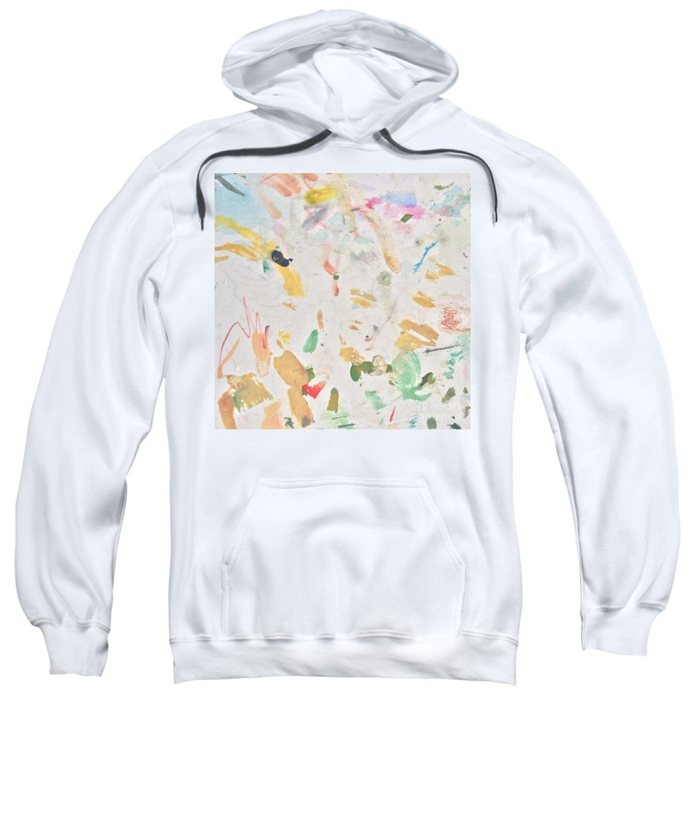 Party Sweatshirt featuring the painting Party People by Robin Maria Pedrero