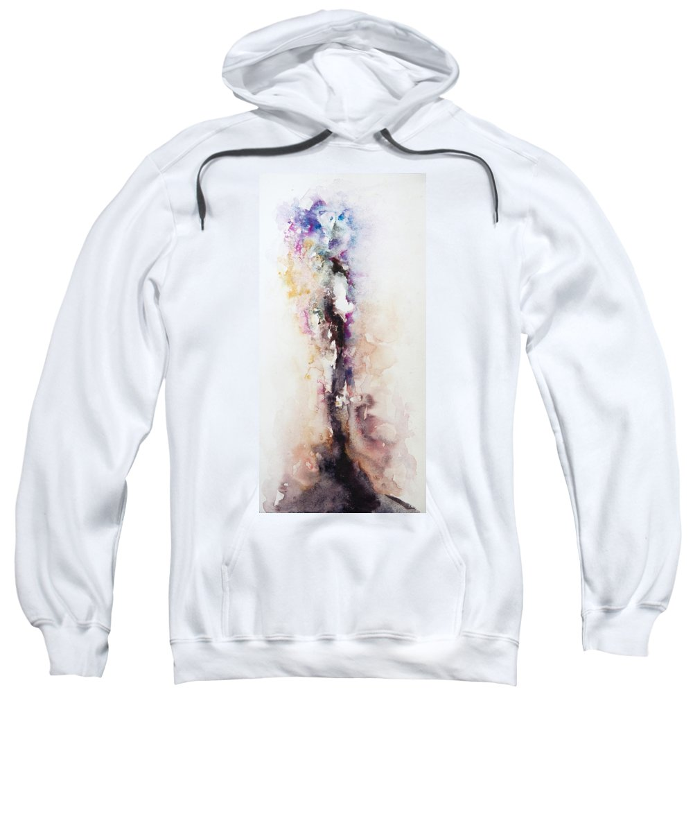 Abstract Sweatshirt featuring the painting Passageway by Rachel Christine Nowicki
