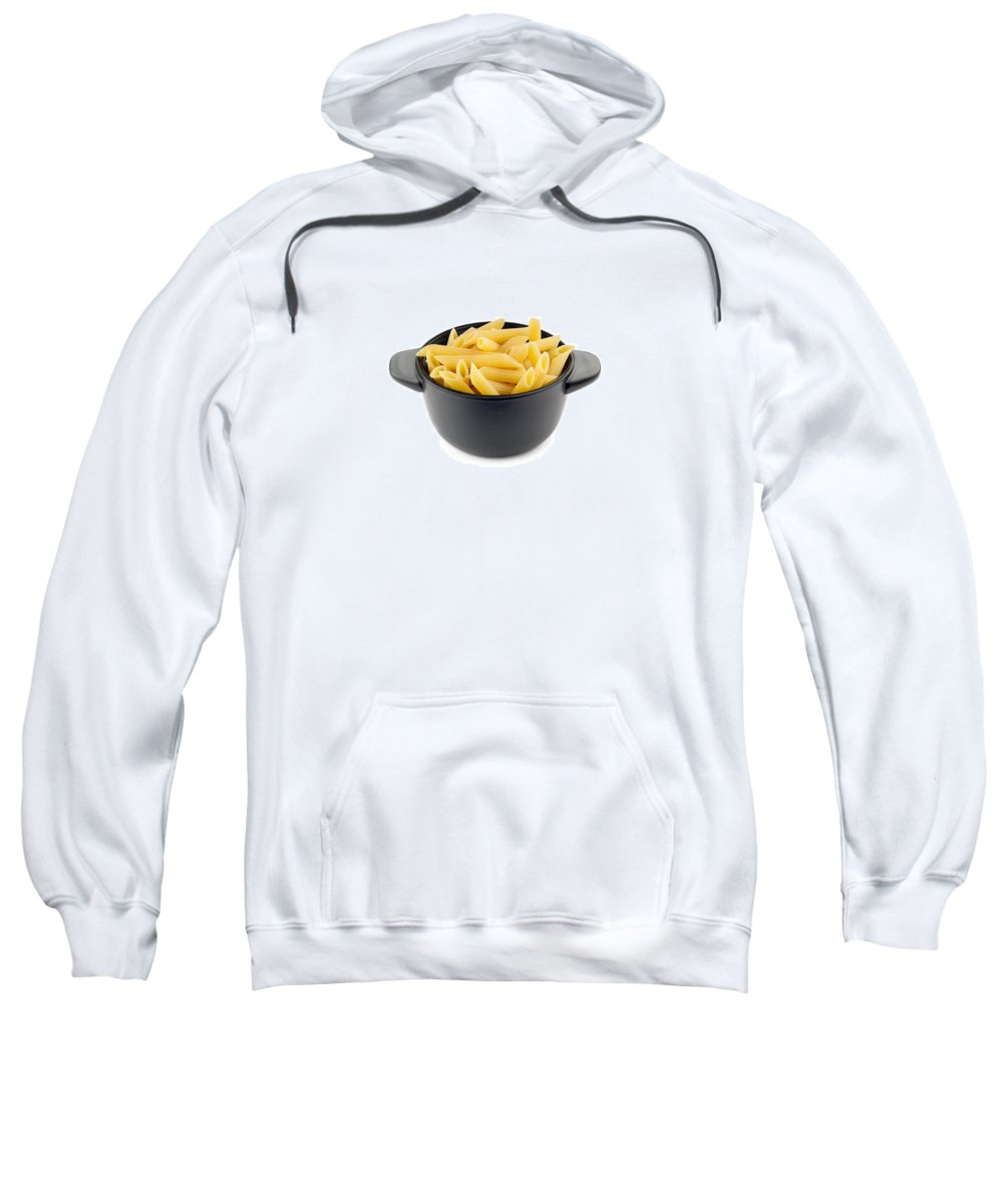 Above Sweatshirt featuring the photograph Pasta by Alain De Maximy