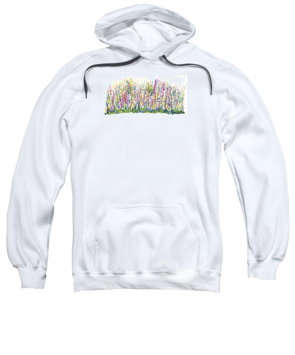Spring Sweatshirt featuring the painting Pastel by Bjorn Sjogren
