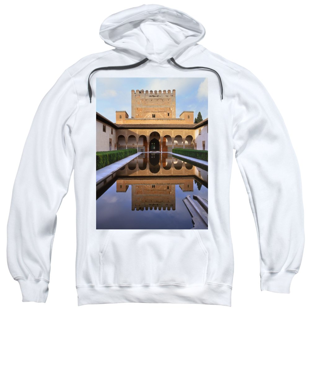 The Alhambra Sweatshirt featuring the photograph Patio De Los Arrayanes La Alhambra by Guido Montanes Castillo