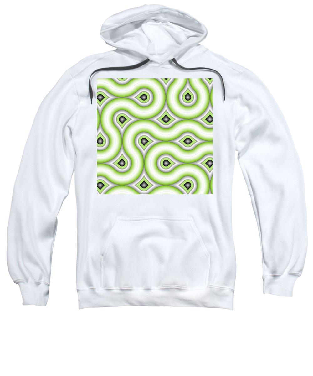 Digital Art Sweatshirt featuring the digital art Pattern by Gabiw Art