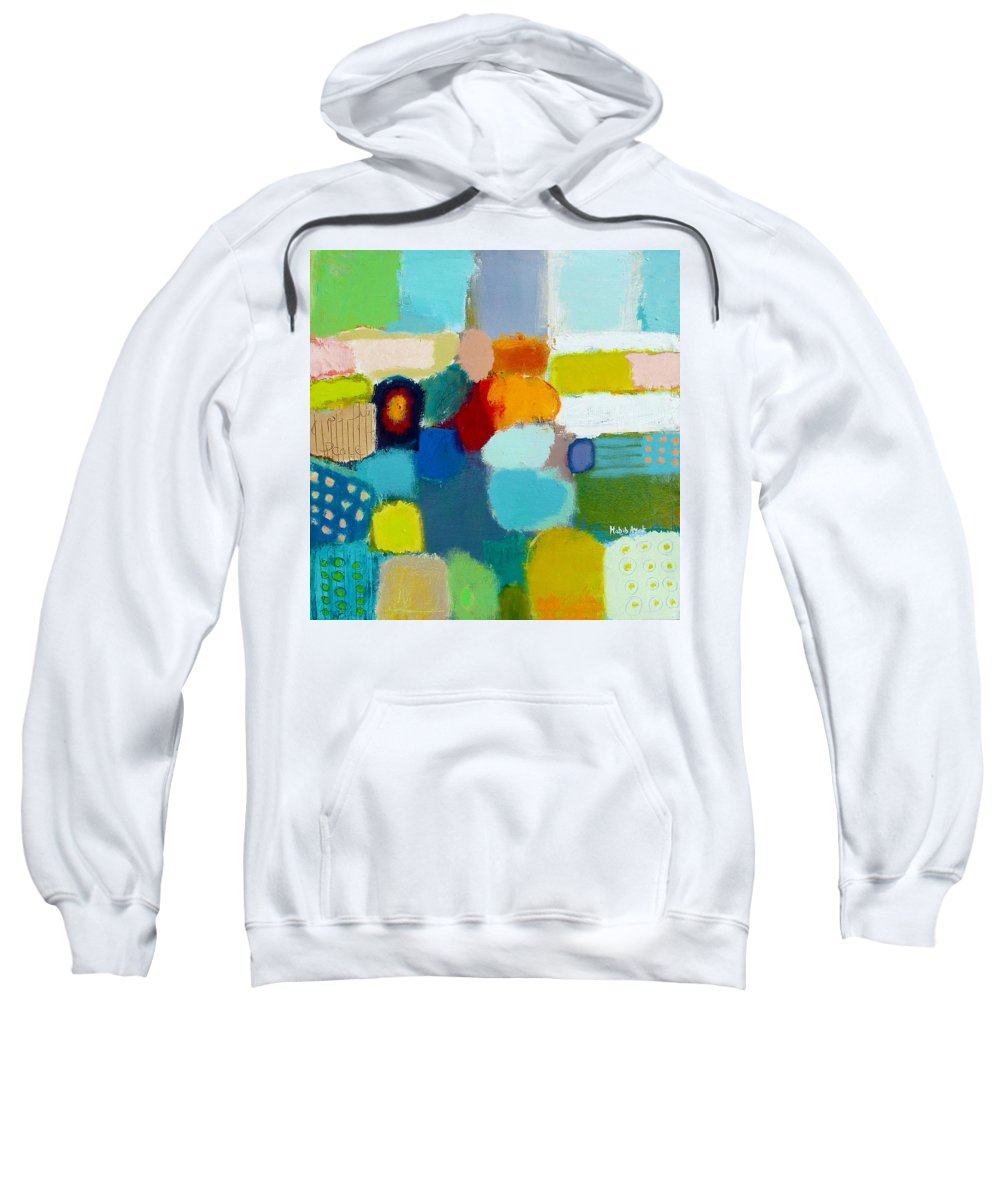 Peace Sweatshirt featuring the painting Peace And Joy 3 by Habib Ayat