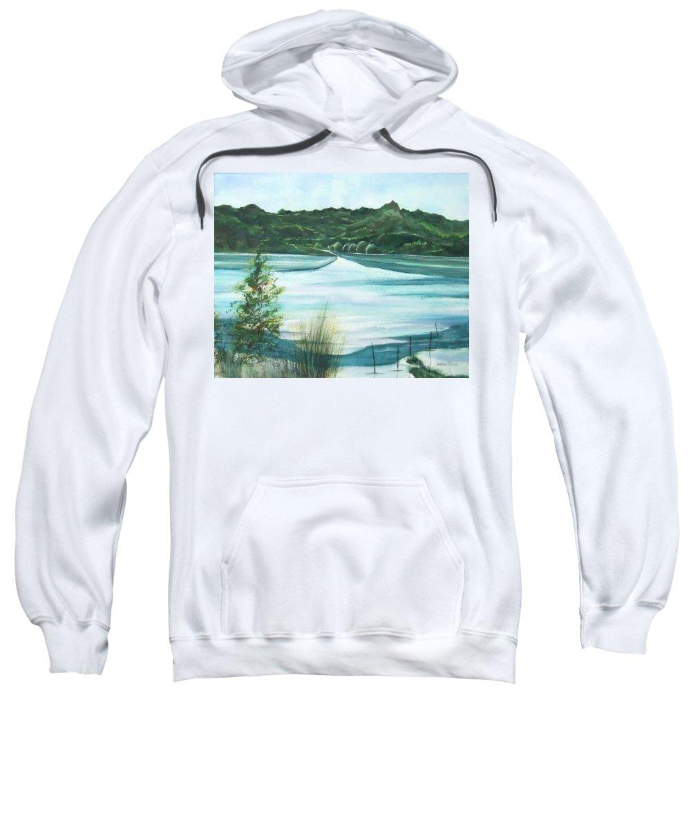 Lake Sweatshirt featuring the painting Peaceful Lake by Debbie Lewis