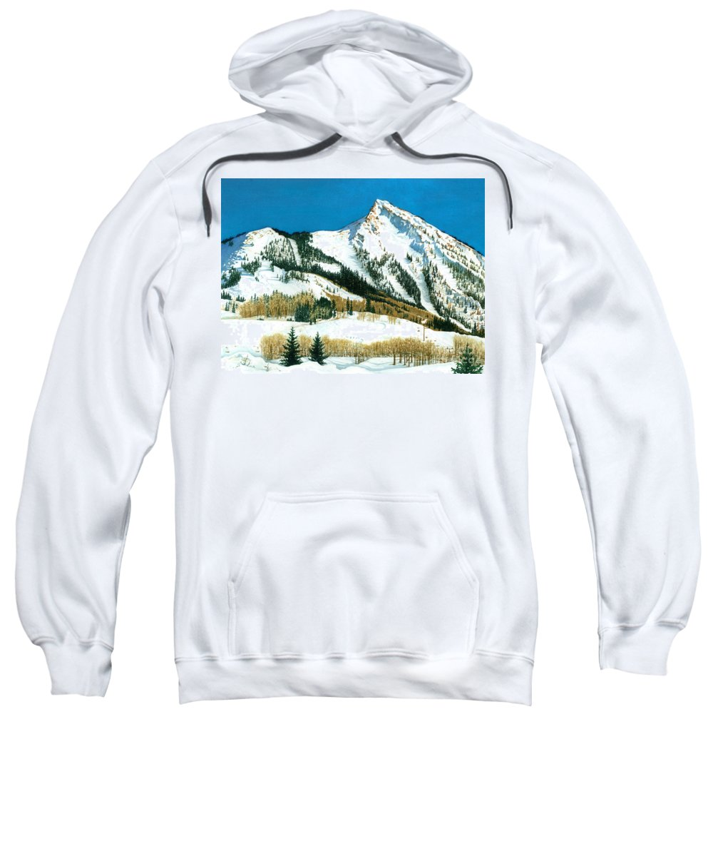 Water Color Paintings Sweatshirt featuring the painting Peak Adventure by Barbara Jewell