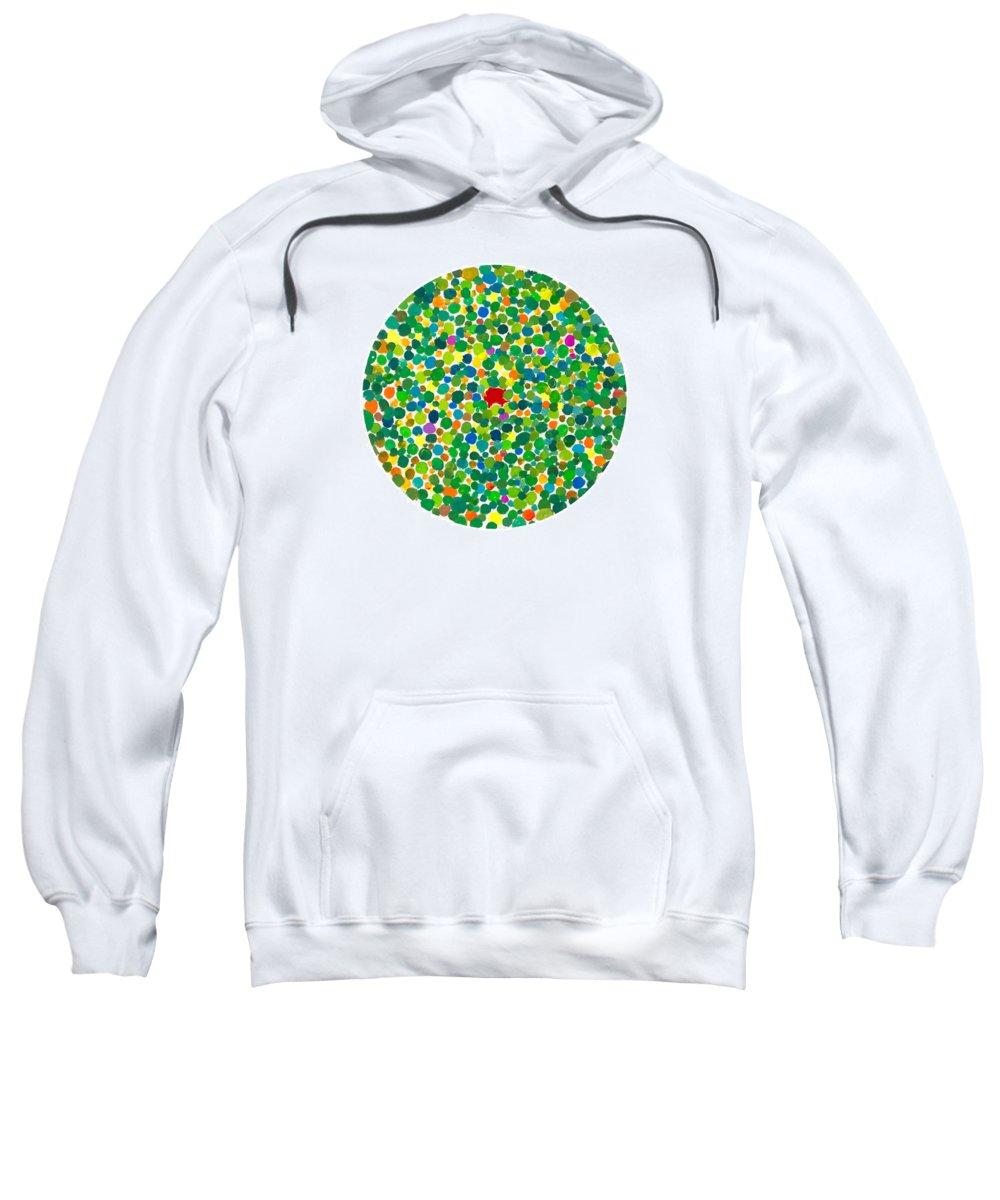 Peace Sweatshirt featuring the painting Peas On Earth by Bjorn Sjogren