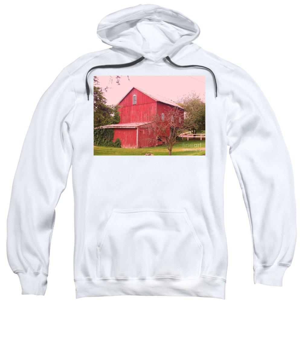 Pennsylvania Sweatshirt featuring the photograph Pennsylvania Barn Cira 1700 by Eric Schiabor