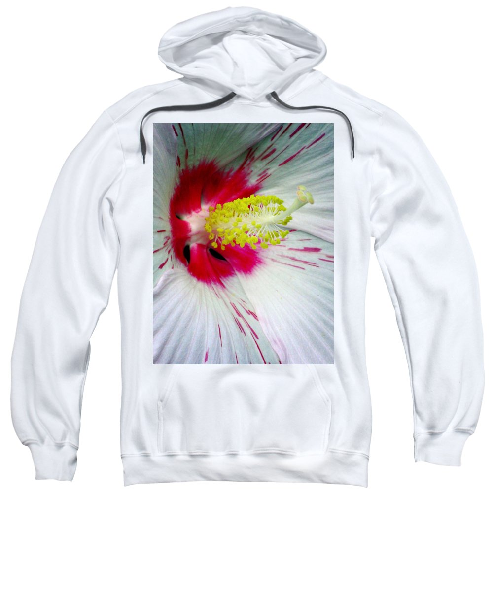 Hibiscus Sweatshirt featuring the photograph Peppermint Flame 02a by Pamela Critchlow