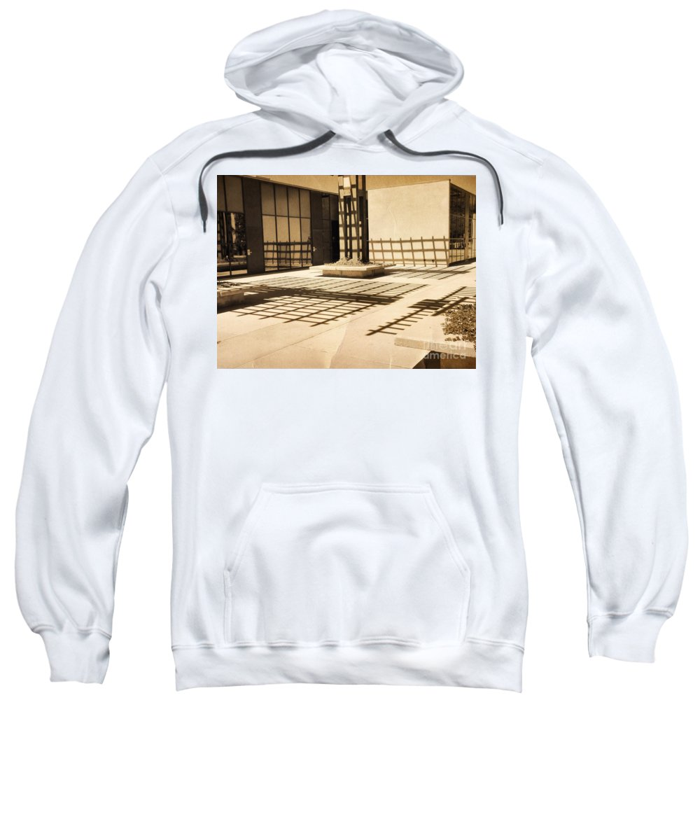 Shadows Sweatshirt featuring the photograph Phantom Fences2 by Meghan at FireBonnet Art