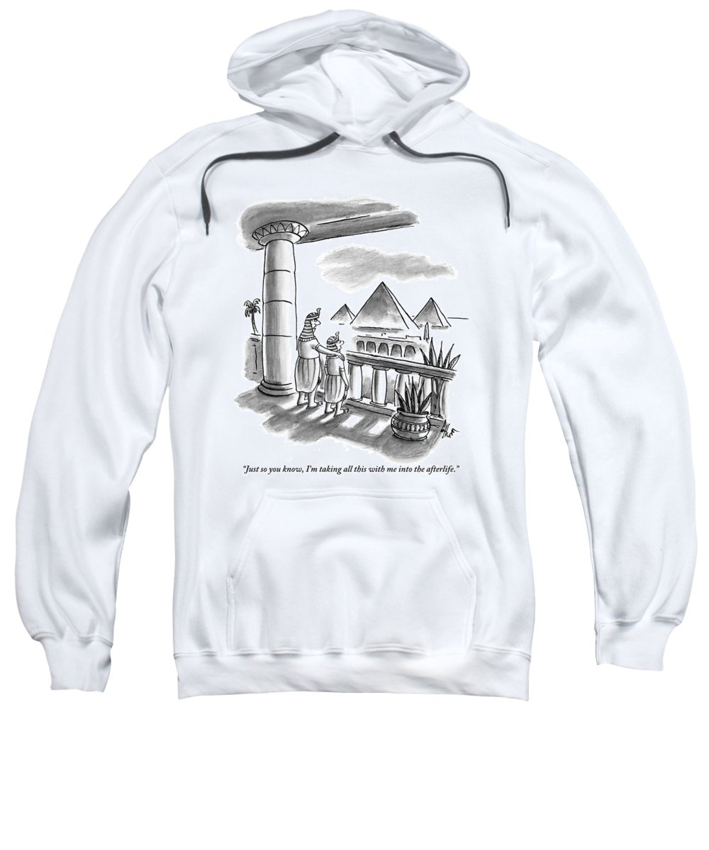 Fathers And Sons Sweatshirt featuring the drawing Pharaoh To Son by Frank Cotham