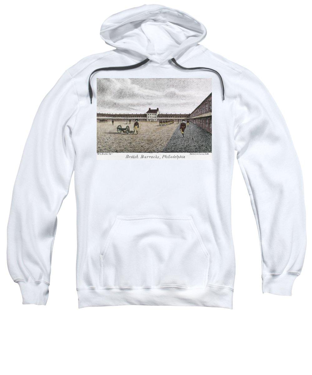 1777 Sweatshirt featuring the photograph Philadelphia: Barracks by Granger
