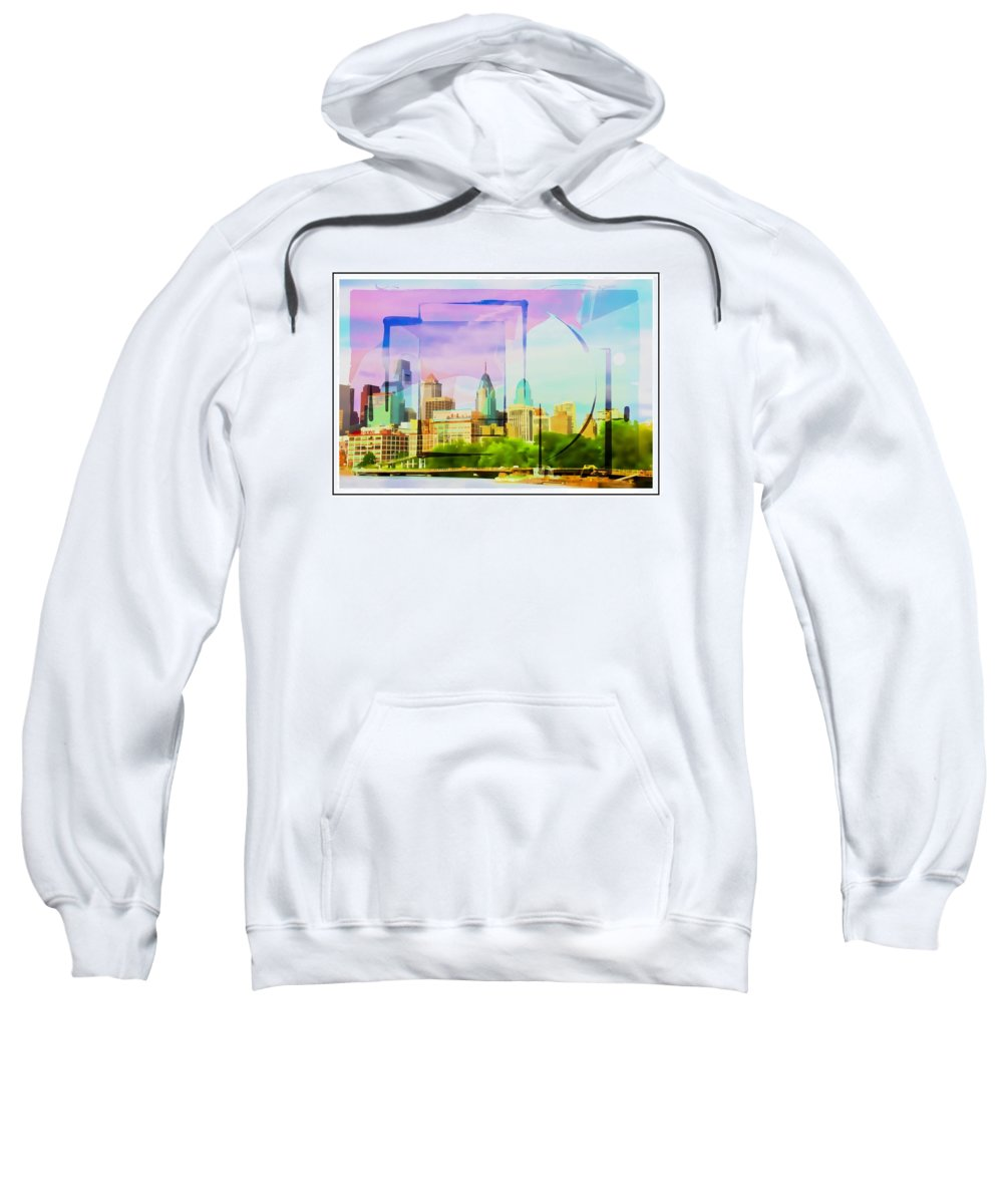 Philly Sweatshirt featuring the photograph Philly Colours by Alice Gipson