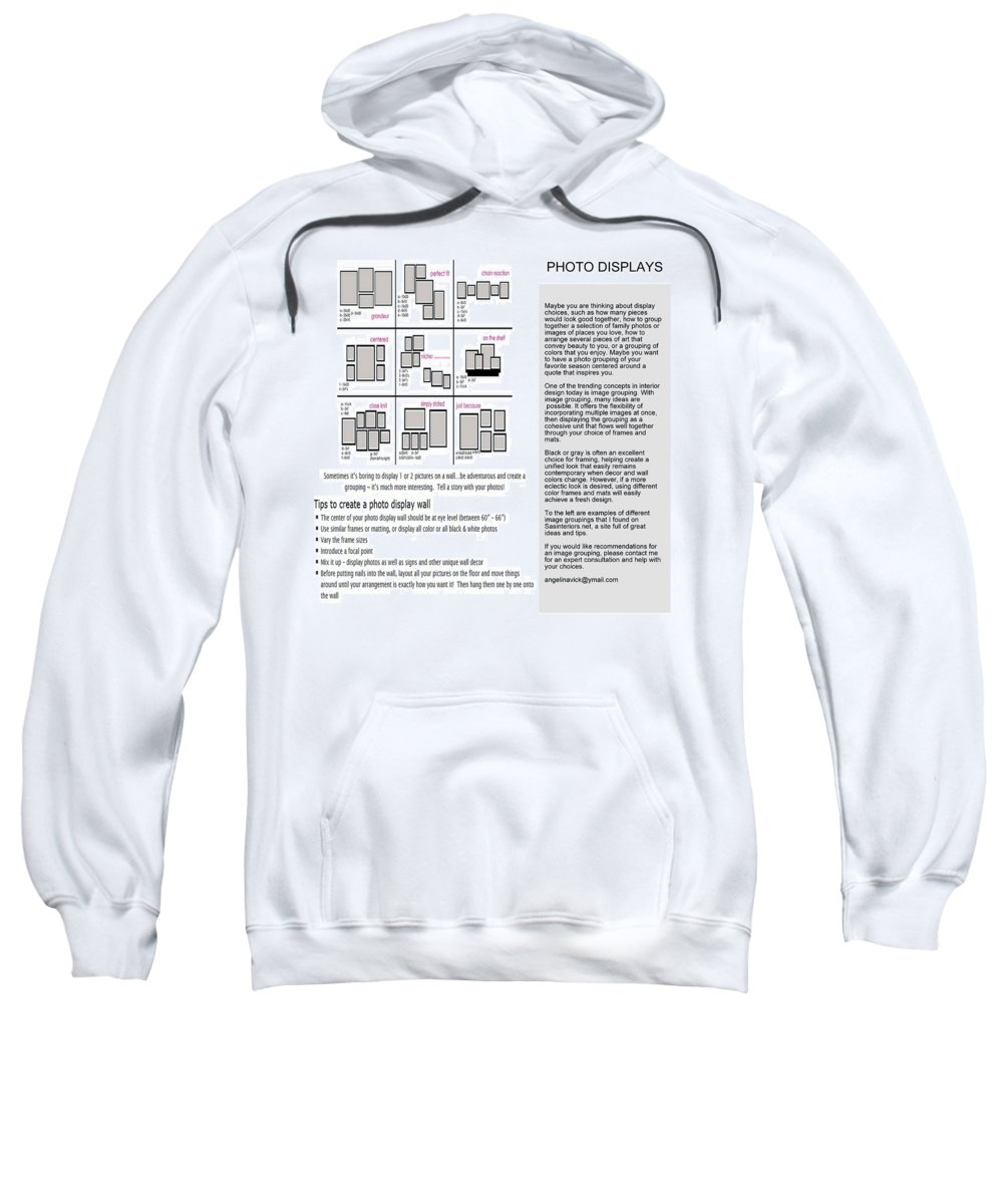 Nfs Sweatshirt featuring the mixed media Photo Displays by Angelina Vick