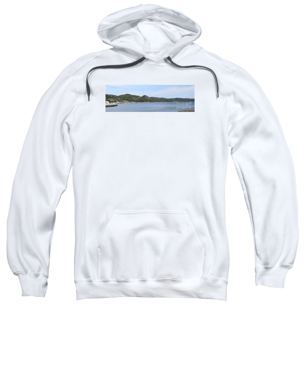 Placentia Gut Sweatshirt featuring the photograph Placentia Gut by Barbara Griffin