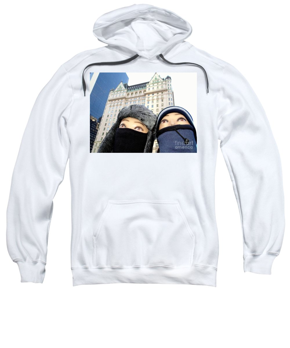 Mannequins Sweatshirt featuring the photograph Plaza Peering by Ed Weidman
