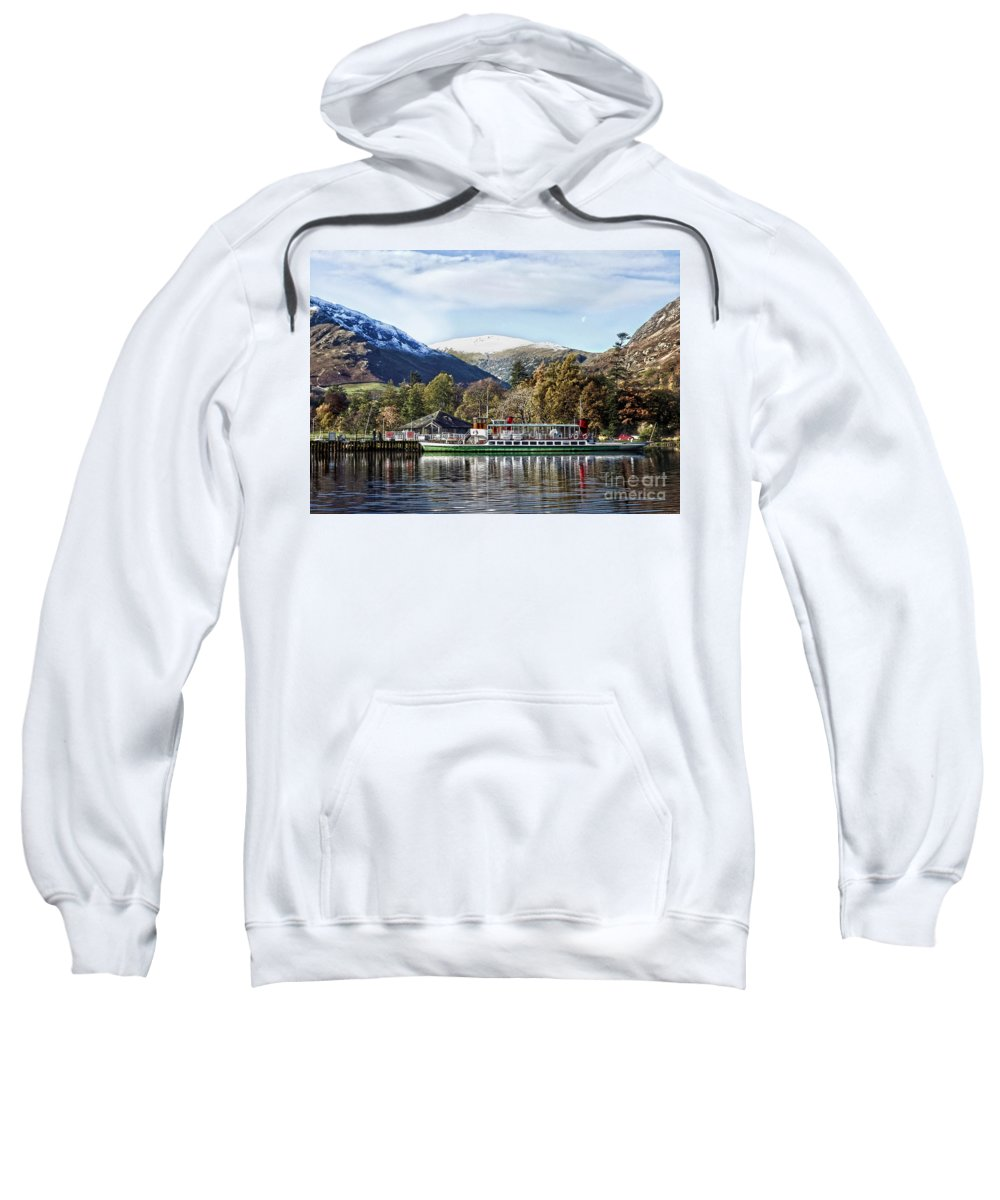 Linsey Williams Photography Sweatshirt featuring the photograph Pleasure Cruiser On Ullswater by Linsey Williams