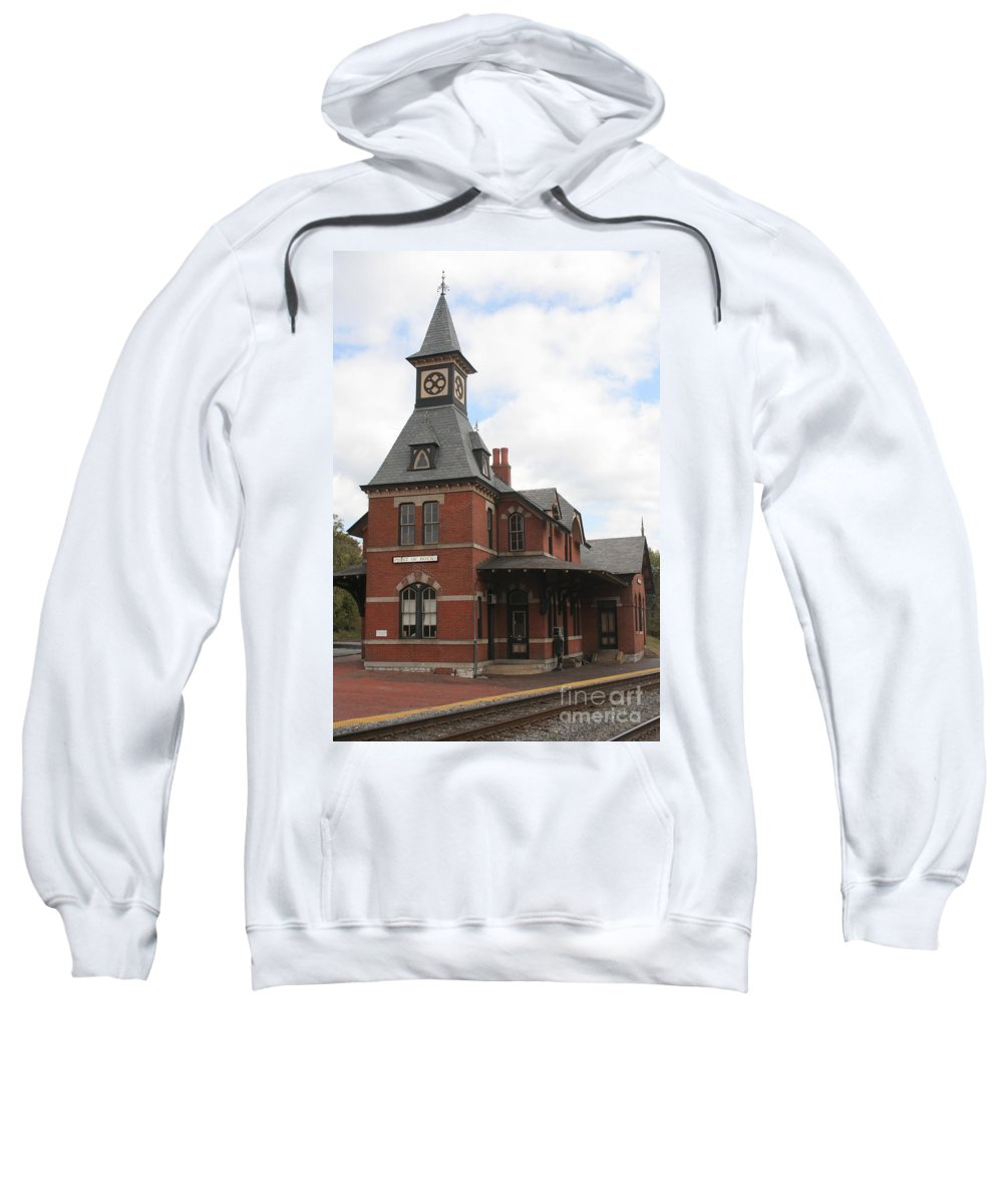Train Sweatshirt featuring the photograph Point Of Rocks by Thomas Marchessault