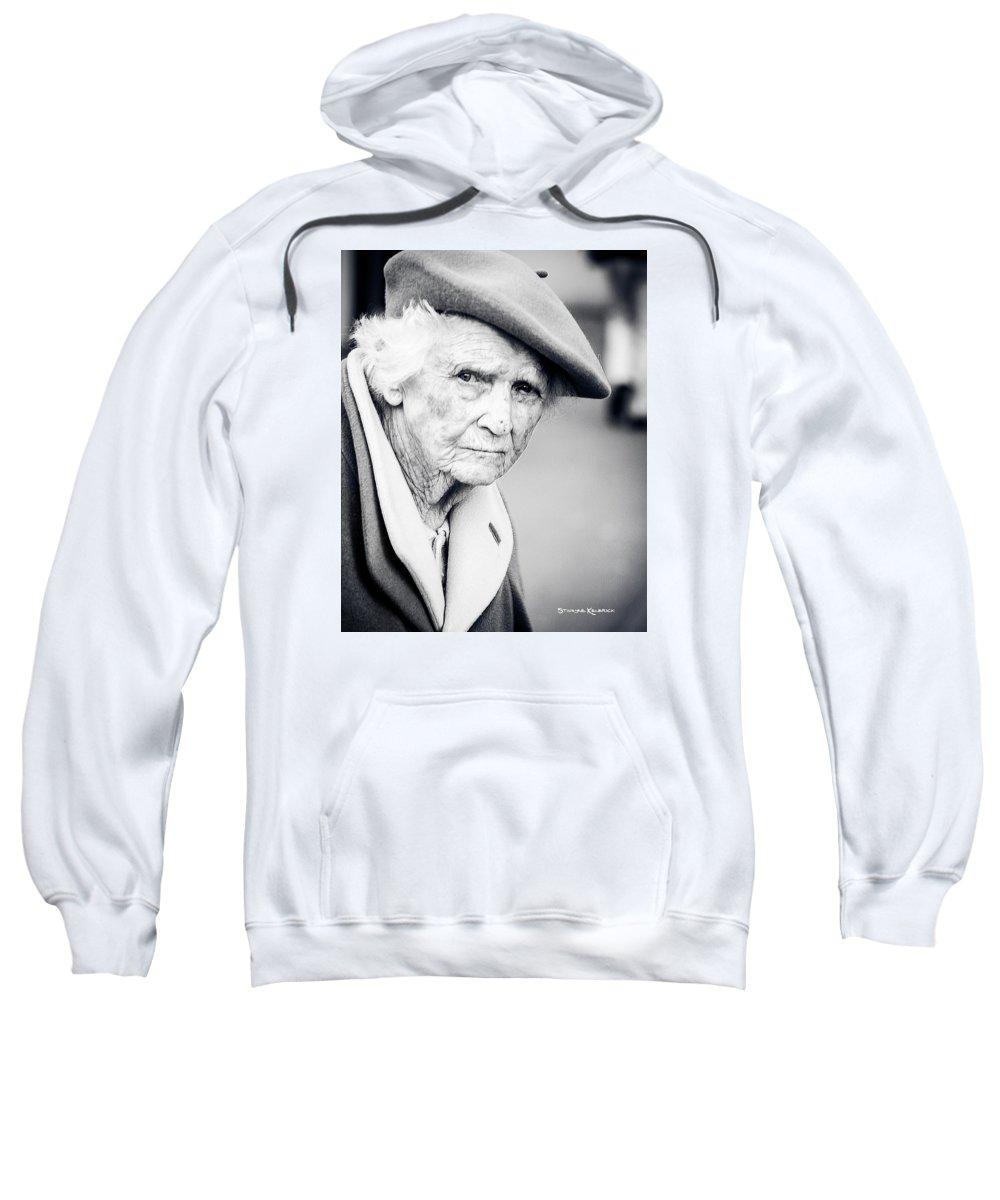 Portrait Photo Sweatshirt featuring the photograph Poor Old Lady by Stwayne Keubrick