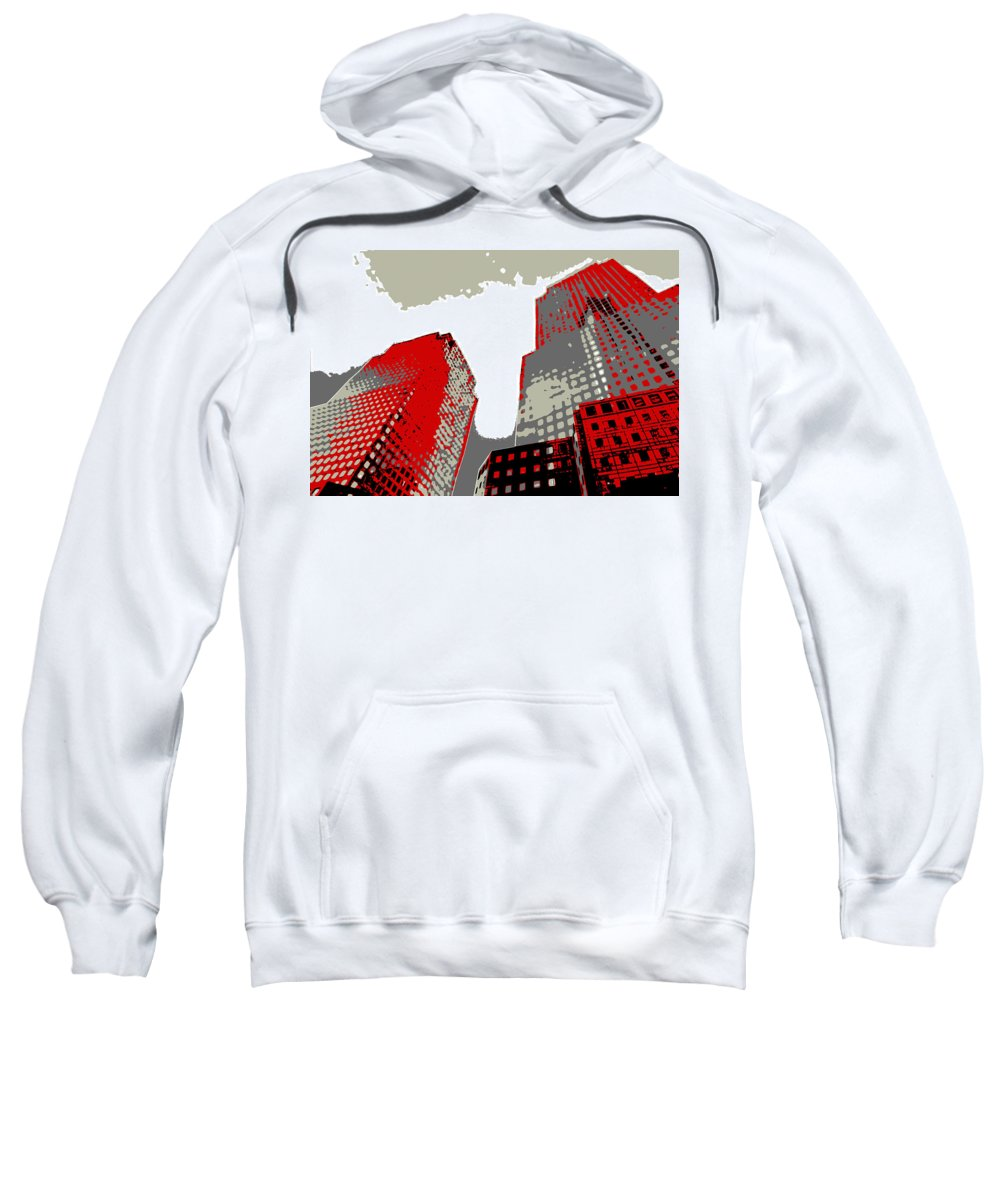 Nyc Sweatshirt featuring the digital art Pop Art Nyc 4 by David G Paul