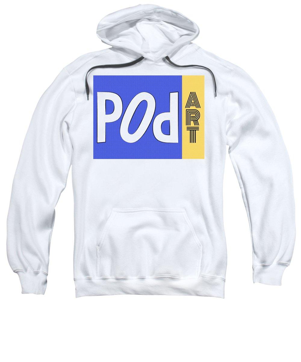 Pop Sweatshirt featuring the painting Pop Art Words 04 by Jo Roderick