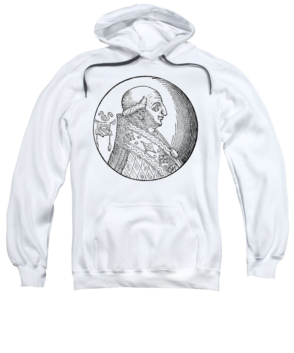 8th Century Sweatshirt featuring the painting Pope Gregory II (d by Granger