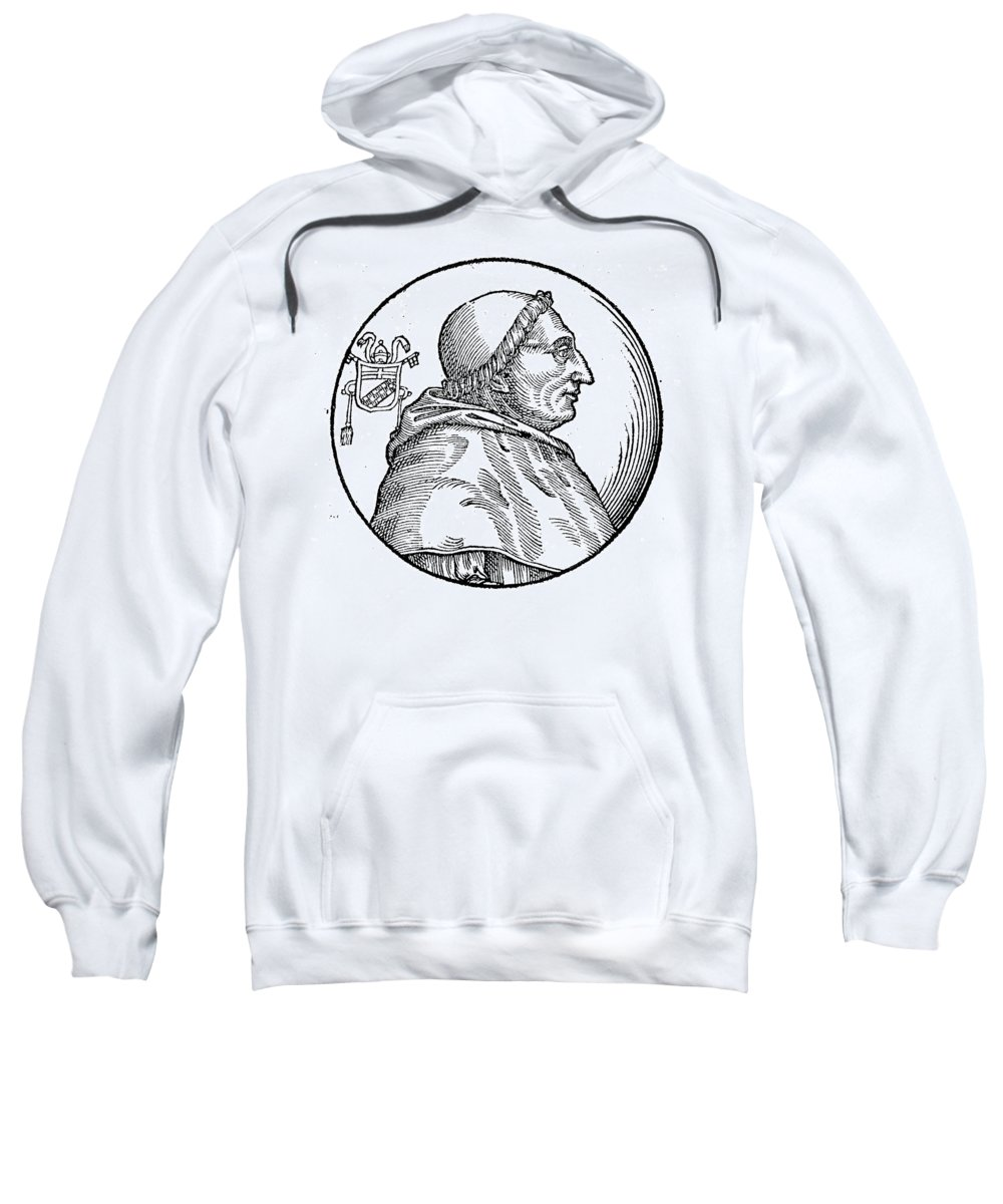 15th Century Sweatshirt featuring the painting Pope Innocent Viii (1432-1492) by Granger