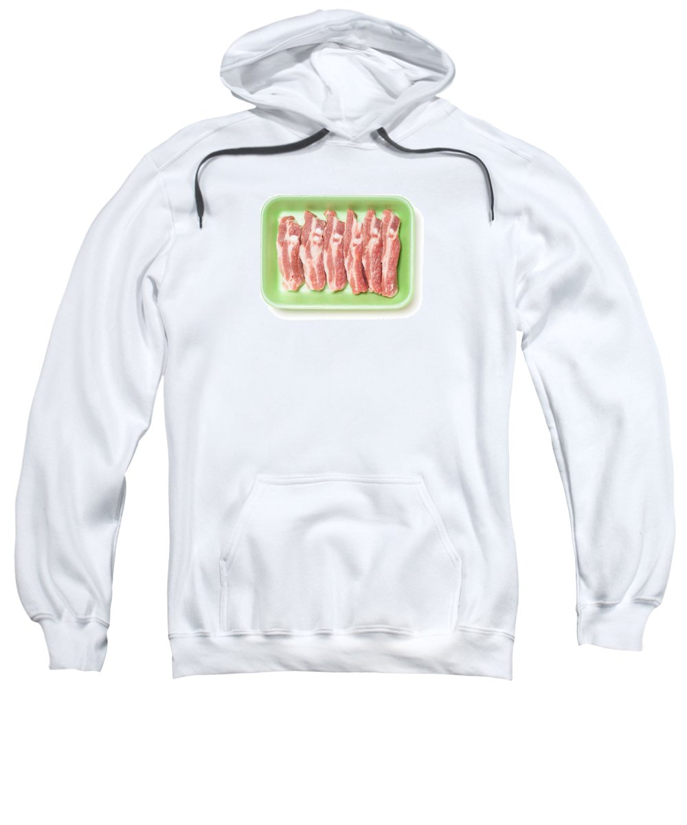 Animal Sweatshirt featuring the photograph Pork Ribs In Foam Tray by Alain De Maximy