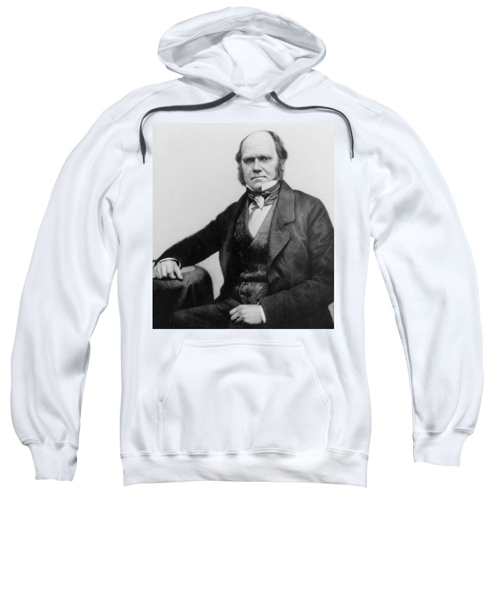 Beard Sweatshirt featuring the photograph Portrait Of Charles Darwin by English Photographer