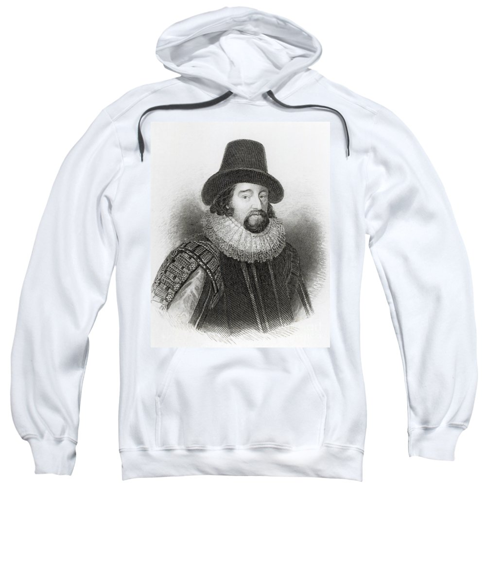 Male Sweatshirt featuring the drawing Portrait Of Francis Bacon by English School