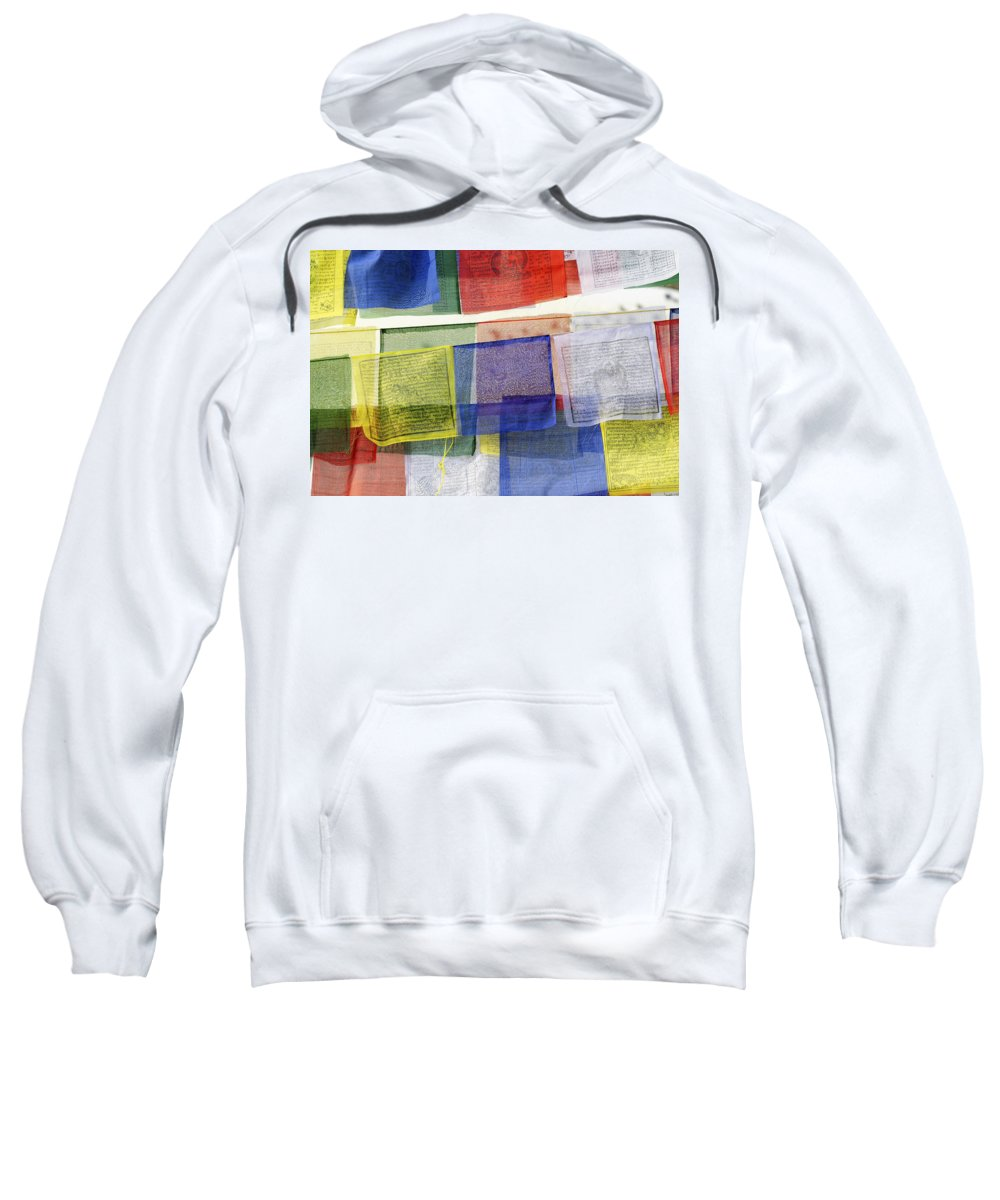 Prayer Sweatshirt featuring the photograph Prayer Flags by Dutourdumonde Photography
