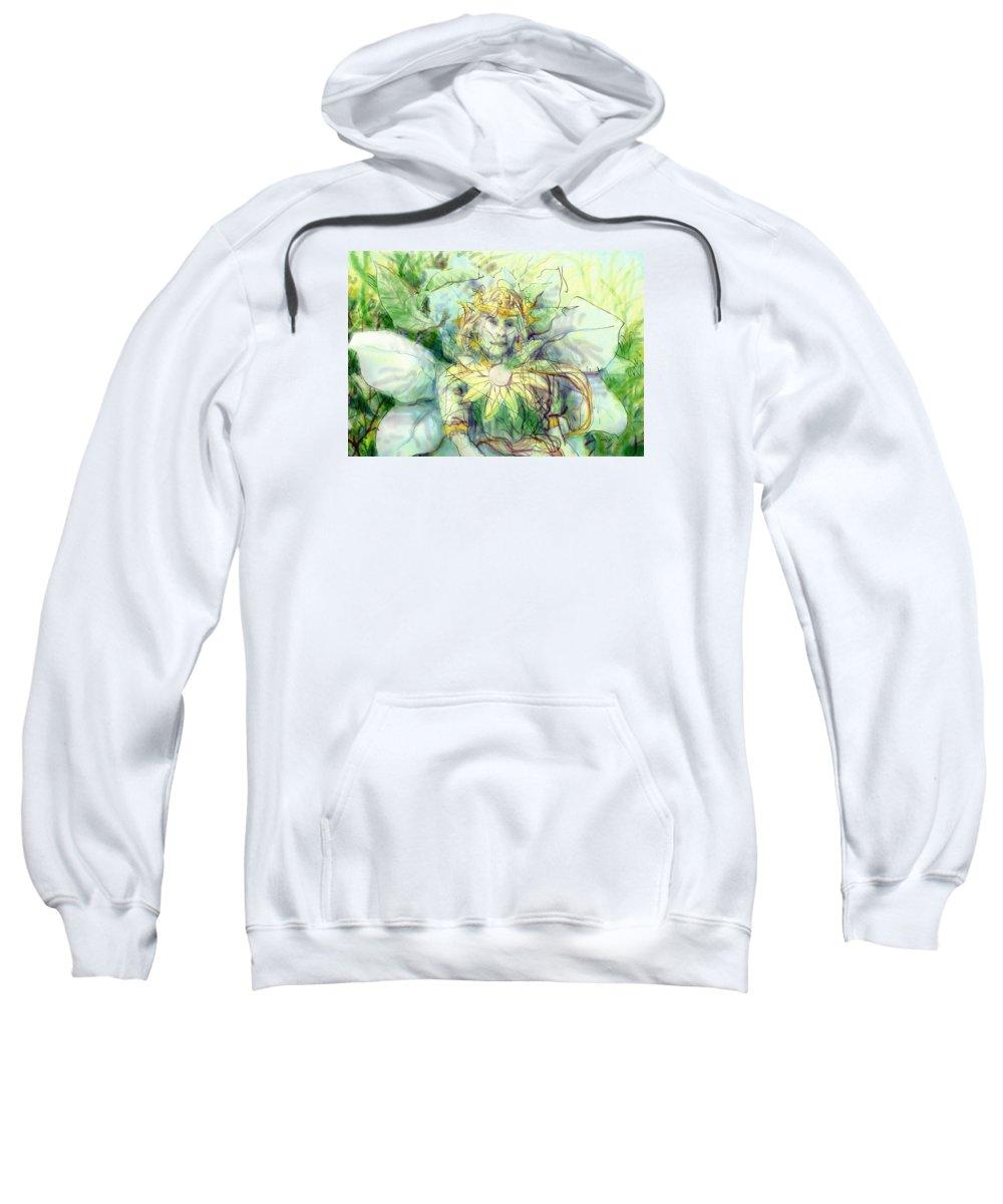 Digital Sweatshirt featuring the painting Prince Of Flowers by Geoffrey Haun