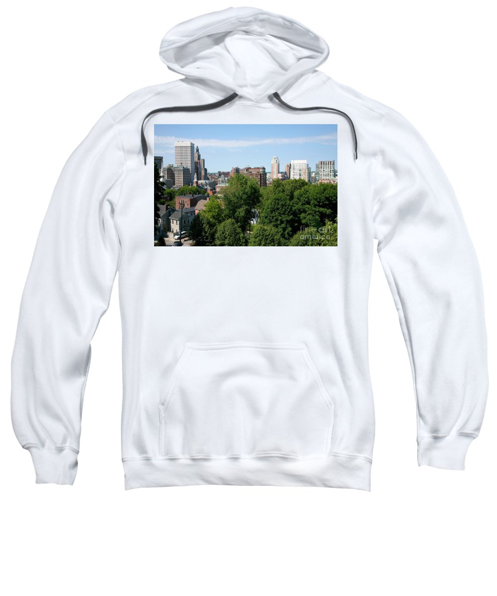 Prospect Terrace Park Sweatshirt featuring the photograph Providence Skyline by Bill Cobb