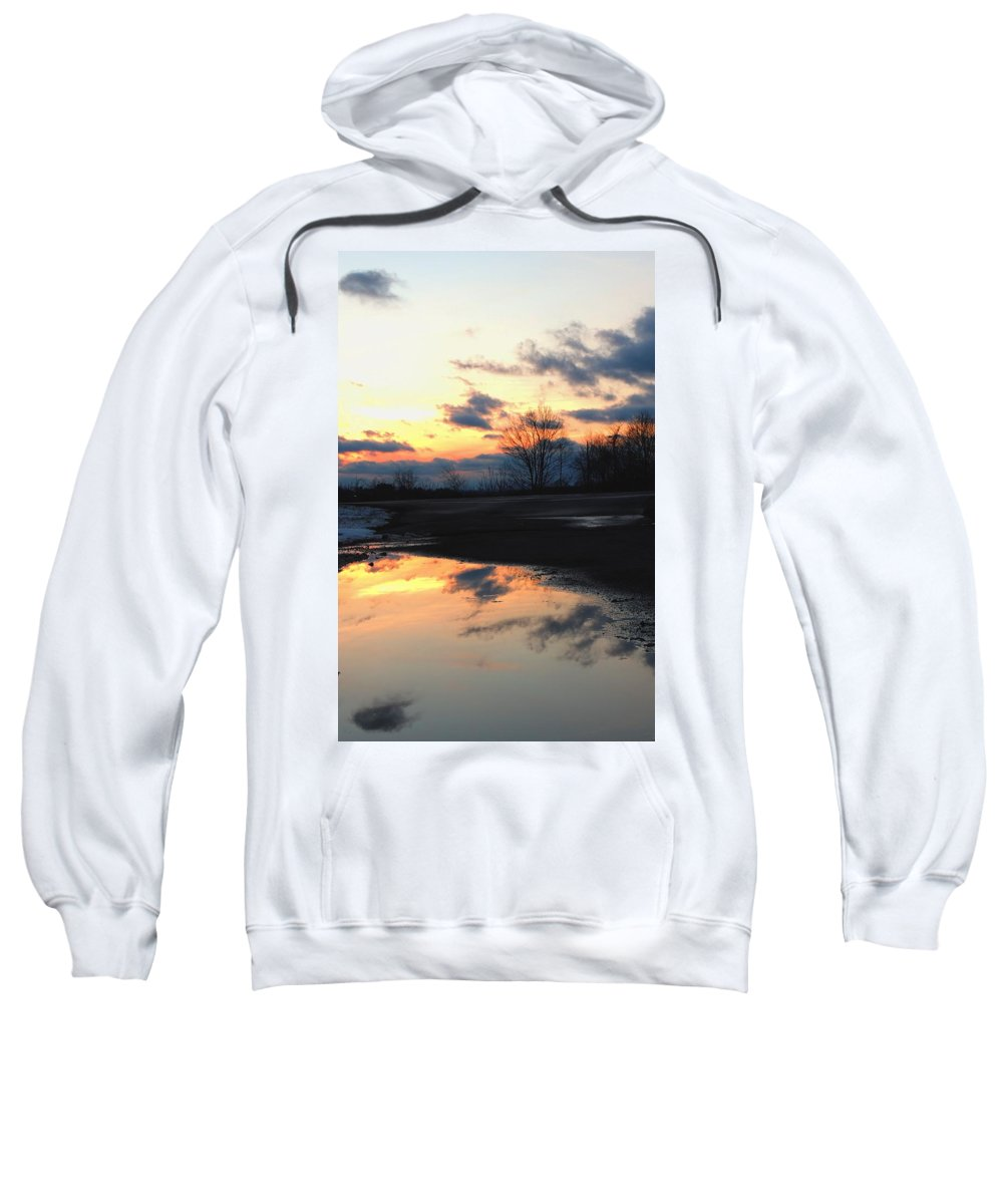 Sunset Sweatshirt featuring the photograph Puddle Set by Michele Nelson