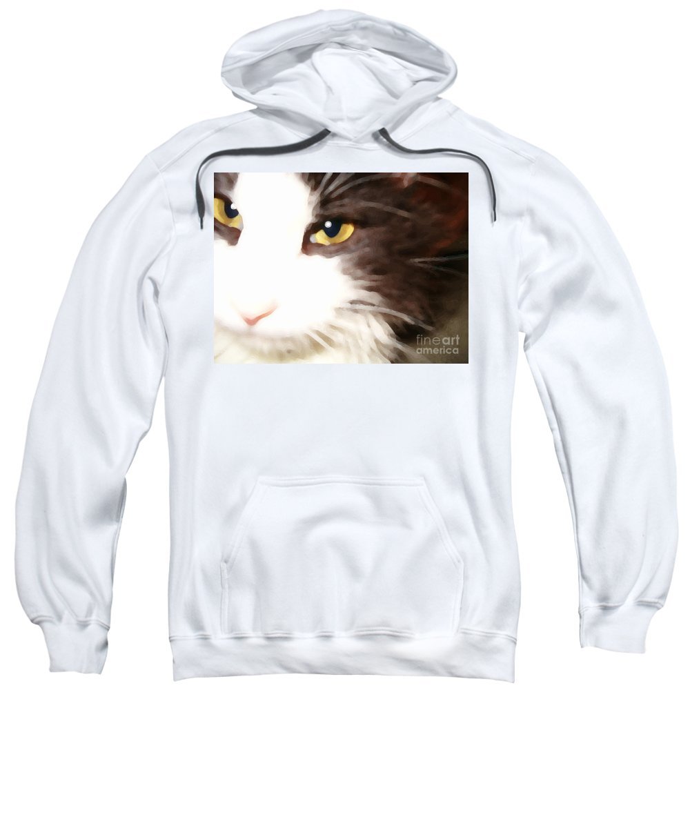 Cat Sweatshirt featuring the photograph Purr by Karin Everhart