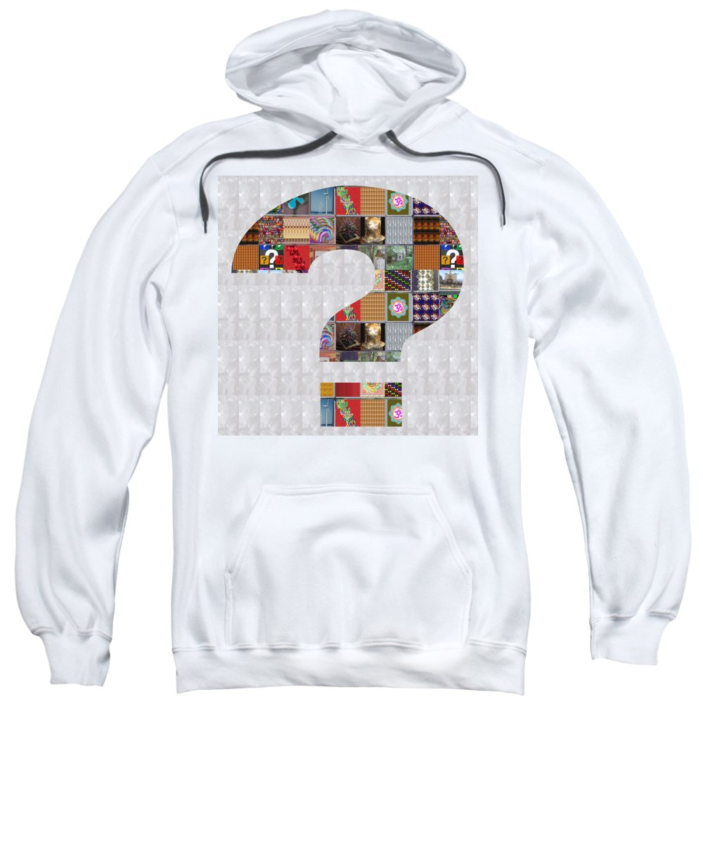 Question Sweatshirt featuring the painting Question Artistic Showcasing Navinjoshi Gallery Art Icons Buy Faa Products Or Download For Self Prin by Navin Joshi