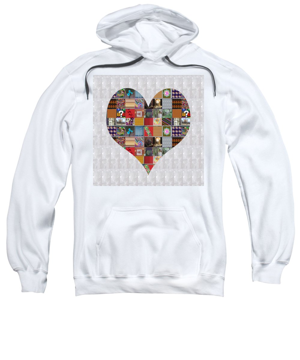 Heart Sweatshirt featuring the painting Question Symbol Showcasing Navinjoshi Gallery Art Icons Buy Faa Products Or Download For Self Printi by Navin Joshi