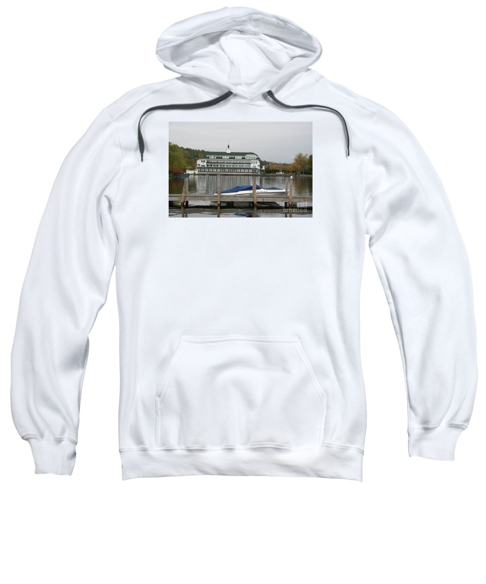 Lake Winnipesaukee Sweatshirt featuring the photograph Quiettime At The Lake by Christiane Schulze Art And Photography