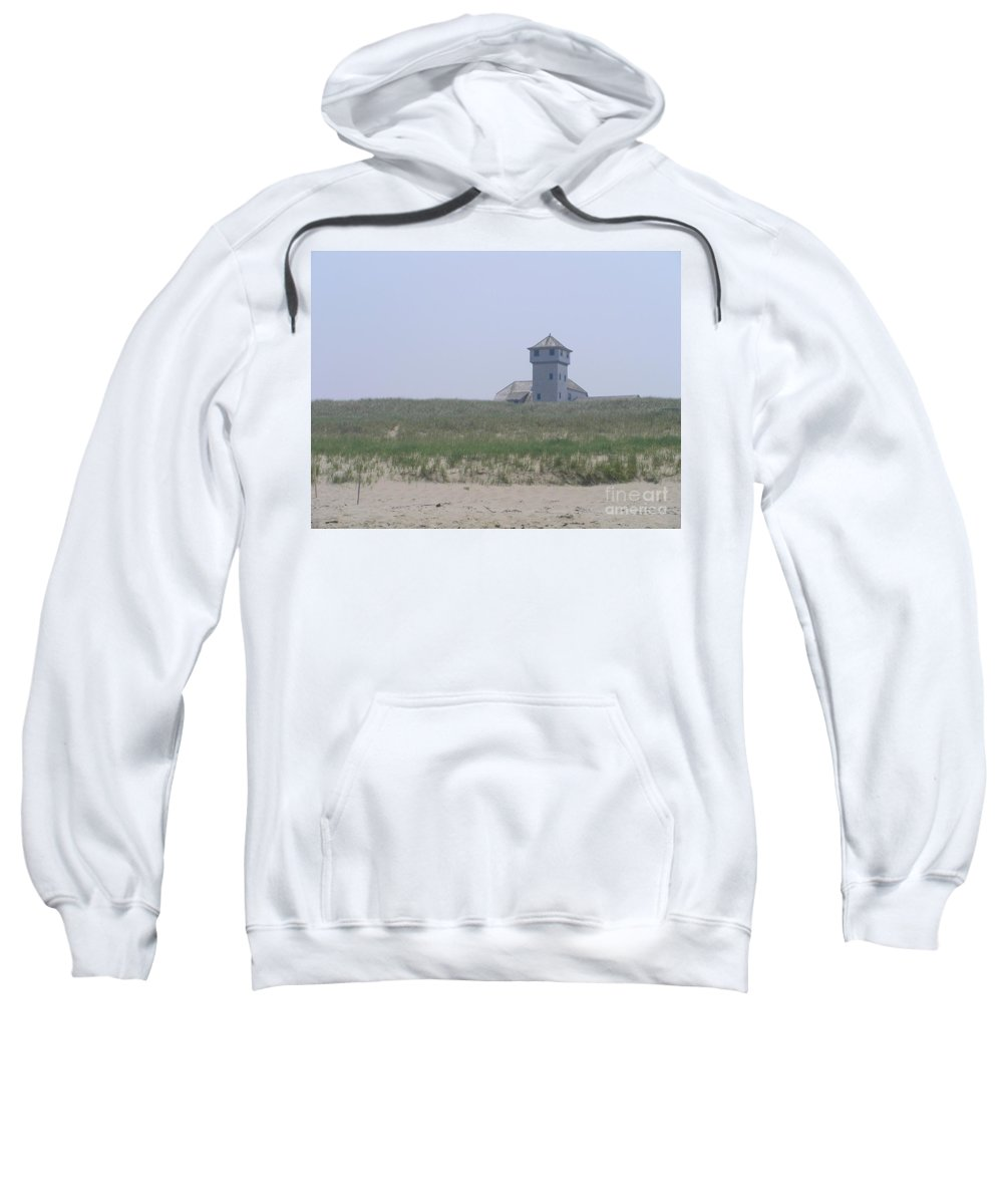Race Point Life Saving Station Sweatshirt featuring the photograph Race Point by Elizabeth Dow