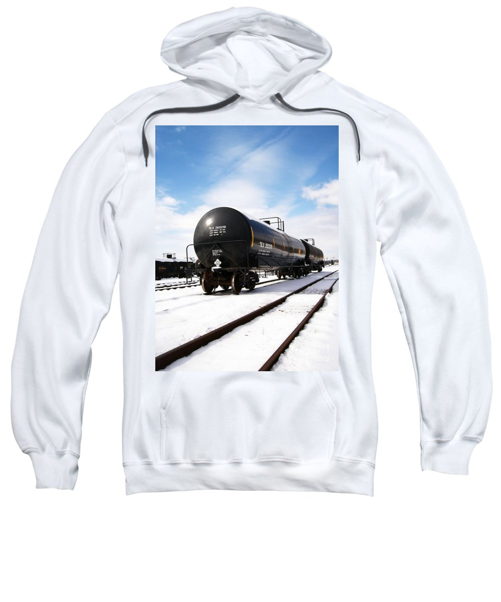 Train Sweatshirt featuring the photograph Ready To Go by Sara Raber
